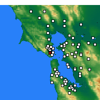 Nearby Forecast Locations - Mill Valley - Kaart