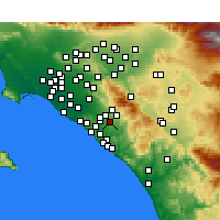 Nearby Forecast Locations - Mission Viejo - Kaart