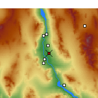 Nearby Forecast Locations - Mohave Valley - Kaart