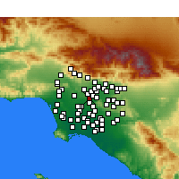 Nearby Forecast Locations - Monterey Park - Kaart