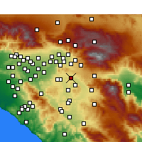 Nearby Forecast Locations - Moreno Valley - Kaart