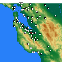 Nearby Forecast Locations - Mountain View - Kaart