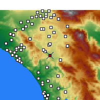 Nearby Forecast Locations - Murrieta - Kaart