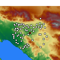 Nearby Forecast Locations - Norco - Kaart