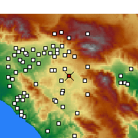 Nearby Forecast Locations - Nuevo - Kaart