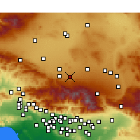 Nearby Forecast Locations - Lake Los Angeles - Kaart