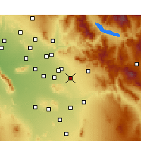Nearby Forecast Locations - Queen Creek - Kaart